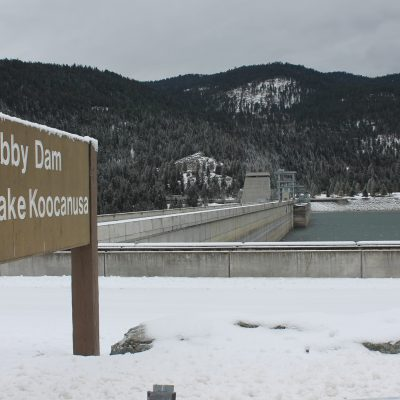 Libby dam on Lake Koocanusa and Kootenai River